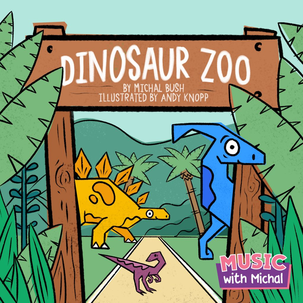 Dinosaur Zoo book by Music with Michal, illustrated by Andy Knopp